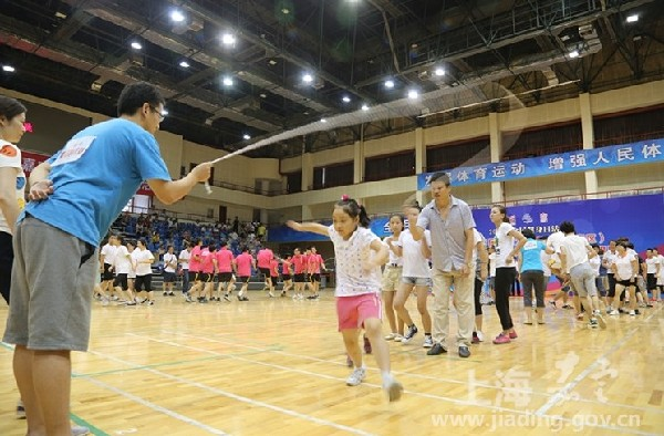 Jiading holds sports competition on National Fitness Day