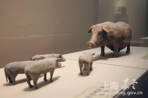 Han historic relics exhibited in Jiading