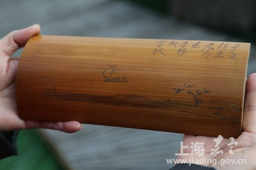 Jiading Museum holds bamboo carving exhibition