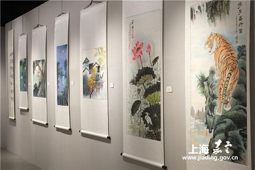 Paintings present Jiading's beautiful landscape and long history