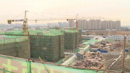 Construction of Jiading new foreign language school nears completion