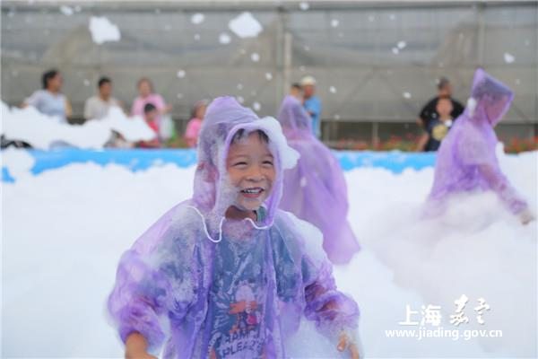 Summer carnival highlights night views in Jiading
